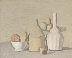 Flowers, 1942 by Giorgio Morandi. Post-Impressionism. flower painting