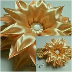 Одноклассники Ribbon Art, Diy Ribbon, Fabric Ribbon, Ribbon Crafts, Ribbon Bows, Ribbon Flower, Ribbons, Satin Flowers, Diy Flowers