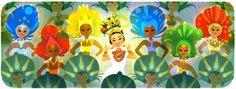 Doodleando, Los Logos de Google: Carmen Miranda homenajeada por Google en el 108 an...