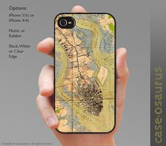Vintage Charleston Map iPhone Case for iPhone by caseosaurus this will go with every outfit! Charleston Map, Spanish Moss, Beautiful Architecture, South Carolina, Iphone Cases, Trending Outfits, Unique Jewelry, Handmade Gifts, Life