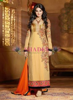 Are you a die-hard fan of Jennifer Winget and do you want a dress like this? then grab it now at: http://www.shadesandyou.com/product-category/readymade-suits/  #PakistaniSuits #AnarkaliSalwarKameez #PakistaniSalwarKameez #BuyKurtisOnline