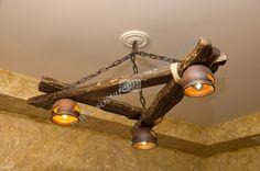 Деревянные люстры и светильники …
