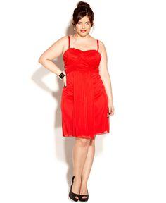 Love Squared Plus Size Dress, Spaghetti-Strap Empire A-Line - Plus Size Dresses - Plus Sizes - Macy's