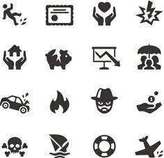 Soulico Insurance Icons Vector Art 459983449