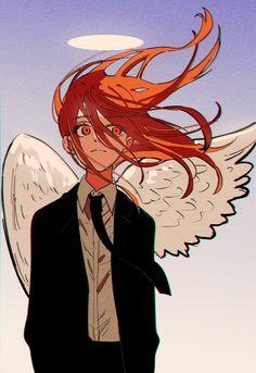 Anime Art Girl, Manga Art, Character Art, Character Design, Man Icon, Angel And Devil, Estilo Anime, Chainsaw, Animes Wallpapers
