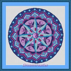 Mandala Planula - digital crossstitch embroidery pattern pdf - 189 x 189 cross stitches - 35 x 35 cm or 13.5 x 13.5 inches - created by Droomcreaties Design & Foto Studio - www.droomcreaties.nl