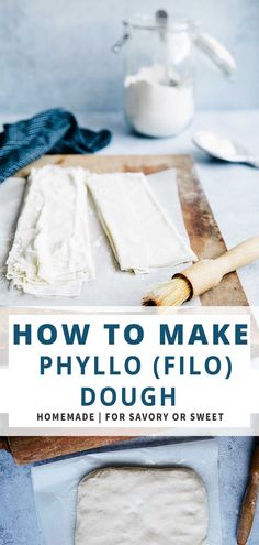 how to make pastry like phyllo