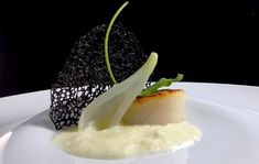 Saint Jacques, Food Decoration, Scallops, Risotto, Entrees, Food To Make, Panna Cotta, Food And Drink, Menu
