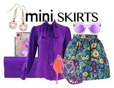 """""""Mini Skirts"""" by nettie-go-pink ❤ liked on Polyvore featuring Casetify, Gucci, House of Holland, Pierre Hardy, Natures Jewelry and miniskirts"""