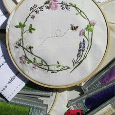 Getting ready for Embroidery Class at www.ie tomorrow. Textile Artists, Hand Embroidery, Textiles, Instagram, Fabrics, Textile Art