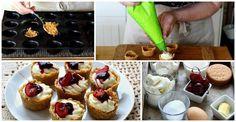 Aprende a hacer unos deliciosos Minis cheesecakes de cereza sin horno