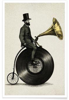 Music Man als Premium Poster von Eric Fan | JUNIQE