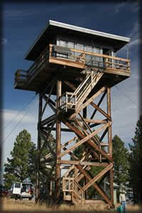 Fivemile Butte Lookout - Camping in a fire tower