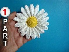 How to crochet camomile Part 1