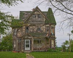 Very near downtown Table Grove, Illinois, sits this grand old Victorian mansion from days well past