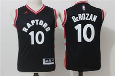 8a204de45f0 ... gold alternate swingman jersey youth toronto raptors 10 demar derozan  black jersey
