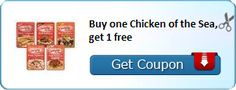 New Coupon!  Buy one Chicken of the Sea, get 1 free - http://www.stacyssavings.com/new-coupon-buy-one-chicken-of-the-sea-get-1-free/