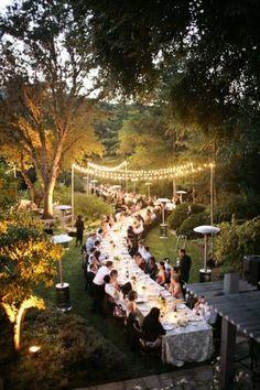 Such a CUTE! outside wedding idea!
