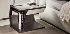 Create Unique Nightstand Ideas for Bedroom — Brand Resort Home Ideas Contemporary Side Tables, Contemporary Furniture, Modern Bedside Table, Bedside Tables, Sofa End Tables, Bed Table, Night Table, Bedroom Night Stands, Modern Bedroom Design