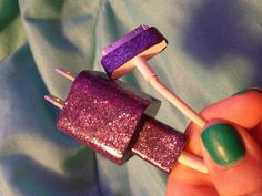 My DIY glitter phone charger - good way to personalize