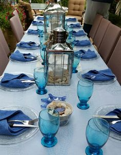 #beach themed party #place setting | Celebrations | Pinterest | Table settings Tablescapes and Beach & beach themed party #place setting | Celebrations | Pinterest | Table ...