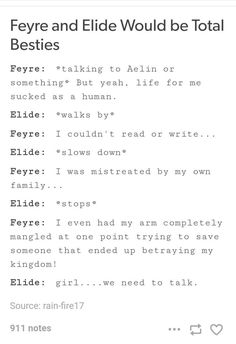 Feyre and Elide would be besties ACoTaR ToG