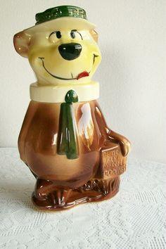 Cookie Jar Yogi Bear Cartoon Rare Vintage by Takingshape on Etsy, $200.00. -pinning this cause my gma has this exact thing