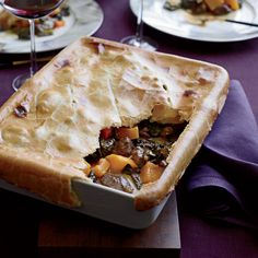 Luscious curried coconut lamb and squash stew is the base for chef Matthew Accarrino of SPQR in San Francisco's hearty potpie.