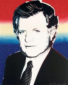 Edward Kennedy by Andy Warhol Screenprint published by The Kennedy for President Committee. via christies.com