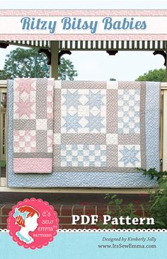 Ritzy Bitsy Babies Downloadable PDF Quilt Pattern It's Sew Emma, Kimberly Jolly  #FQSgiftguide
