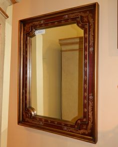 Red & Gold Framed Mirror