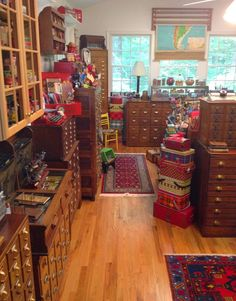 I need to look for these antiques!  So many things to keep out of sight and tucked away for crafting & sewing.