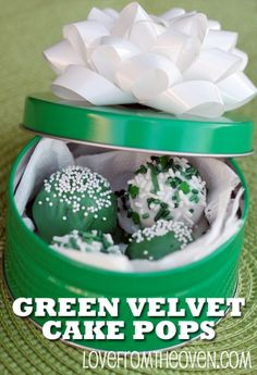 Green Velvet Cake Pops Love From The Oven