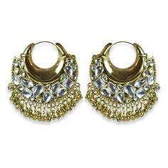 Aishwarya Moon Bali Gold Hoop Earrings Available on ► www.vmfashion.com