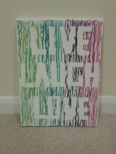 SALE Live Laugh Love Melted Crayon Canvas (craft,art,paintings,colourful,fun)