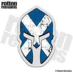 Scotland Flag Spartan Decal Scottish Saltire St Andrew's Cross Sticker Warrior Helmet, Spartan Warrior, Spartan Helmet, Scotland Tattoo, Castle Fraser, Scottish Tattoos, St Andrews Cross, Mark Tattoo, Celtic Nations