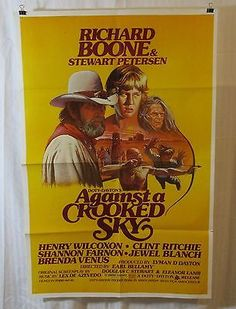 Against A Crooked Sky 1975 Movie Poster Henry Wilcoxon Shannon Farnon
