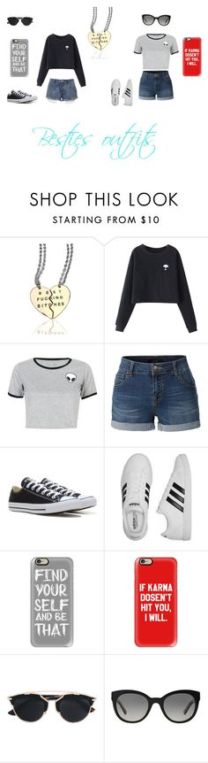"""Untitled #70"" by kaitlynandkaitlyn on Polyvore featuring Chicnova Fashion, WithChic, LE3NO, Converse, adidas, Casetify, Christian Dior and Burberry"