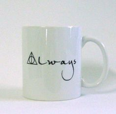 Always White Ceramic Mug - Inspired by Harry Potter and the Deathly Hallows. $15.00, via Etsy.