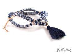 Ethno-Armband in Blautönen von LieblingsBling auf DaWanda.com