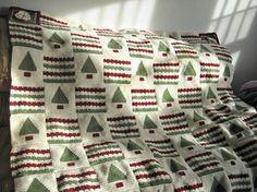 Ravelry: Jenellesmommy's Christmas Afghan - From the 200 Crochet Blocks Christmas Crochet Blanket, Christmas Afghan, Crochet Christmas Ornaments, Christmas Crochet Patterns, Holiday Crochet, Christmas Knitting, Christmas Snowflakes, Crochet Quilt, Crochet Blocks