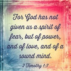 Paul encouraged Timothy not to have a spirit of fear. Instead, he reminded his son in the ministry three things God gave him in place of fear. Find out what those three things were that might help you. Hot Moms Club, Online Marriage, Spirit Of Fear, Get What You Want, The Kingdom Of God, Bible Lessons, People Quotes, Health And Wellbeing, Monday Motivation
