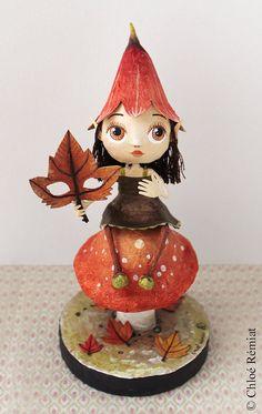 Lutine des Bois OOAK doll par chloeremiat sur Etsy
