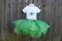 personalized Green Bay tutu and onesie set for by AsYouWishCustom, $41.00