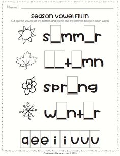The Seasons Worksheet Pack includes 8 FREE worksheets including season matching counting fill in the blanks connect the dots addition and more! Great for preschool and kindergarten. Fun way to introduce the seasons while brushing up on basic skills. Social Studies Worksheets, Kindergarten Social Studies, Science Worksheets, Kindergarten Worksheets, Worksheets For Kids, Kindergarten Fun, Clock Worksheets, Seasons Worksheets, Weather Worksheets