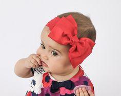 Baby Headband Headwrap Hot Pink Baby Headband by BySophiaBaby