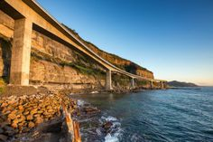 The Sea Bridge at Coalcliff NSW Australia Sea Cliff Bridge, Historical Images, Tasmania, The Locals, Bridges, Places To See, Seaside, Cool Photos, Surfing