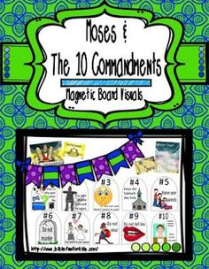 10 Commandments Magnetic Board Visuals: So many ways to use these including bulletin boards!