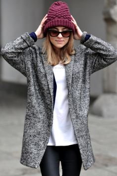 Herringbone is a perfect pattern for fall and winter. This easy to layer jacket will work from season to season!