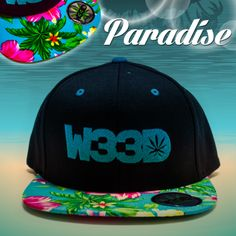 W33D Paradise Snapback. #W33D #Floral Snapback #Paradise #weed